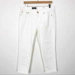 J. CREW White Cropped Matchstick Jeans 32